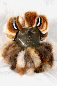 Rotfuchspfoten-Stirnband mit Reflektorstreifen, Rollkragen aus Jersey mit Rotfuchsstreifen